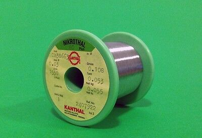KANTHAL Nikrothal Nichrome 48AWG 0.03mm 1550 Ω/m 472 Ω/ft Resistance WIRE 0,03