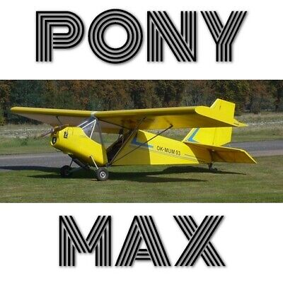 Pony Max - Paper Plans And Information Set For Homebuild 1Seat Cheap Aircraft