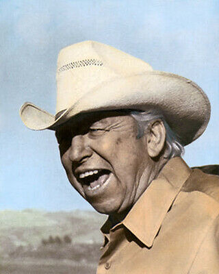 """SLIM PICKENS HOLLYWOOD ACTOR COUNTRY WESTERN STAR 8x10"""" HAND COLOR TINTED PHOTO"""