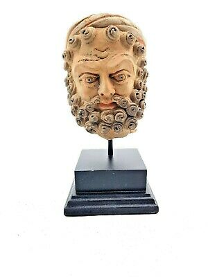 Beautiful Attractive Kushan Empire  Ca.100Ad Terracotta Head Of A Nobleman