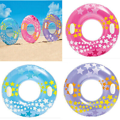 3Pcs Transparent Swimming Ring Inflatable Thickened Pool Floating Swimming Ring