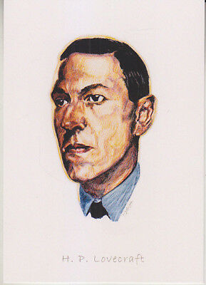 C1 Carte Postale DESSIN JULLIAN Auteur SF LOVECRAFT