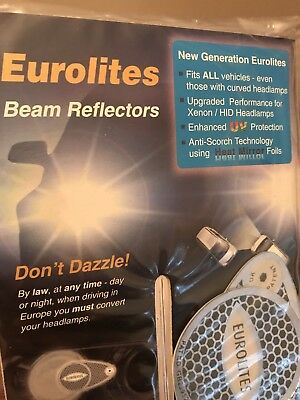 Eurolites Beam Headlamp Headlight Adaptors Beam Reflectors Euro-UK-Euro NEW