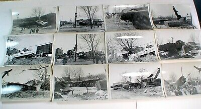 Lot of Vintage Real Photos of Train Wreck Crash Clean-up