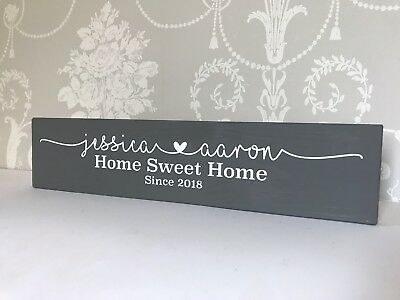 Personalised Wooden Plaque Family Home Sweet Home Gift New home- Multiple Sizes