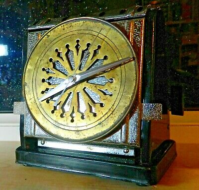 """Upcycled Vintage Toaster:New silent qtz:Steel:7"""" x 7"""":Industrial:Recycled:Brass."""