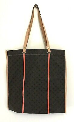 941917a17 COLE HAAN CANVAS Tote/Shoulder Bag with Leather Trim Great Condition ...