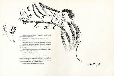 "Marc Chagall lithograph ""Homage to Georges Braque"""
