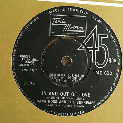 """DIANA ROSS & THE SUPREMES IN AND OUT OF LOVE TMG 632 1967 Exc+ Vinyl 7"""" Record"""
