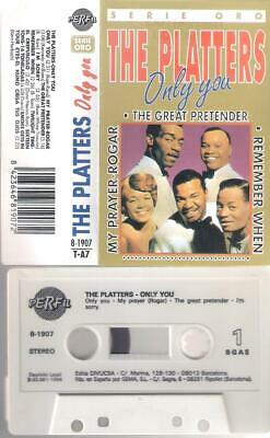 THE PLATTERS   Serie Oro  -  Only you    RARE SPANISH    CASSETTE    SPAIN