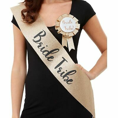 Gold Hen Party Sashes Bride Tribe Team Sash Wedding Girls Night Out Classy Party