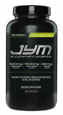 JYM SHRED (240 Veggie Capsules) fat burner diet focus lose belly weight energize