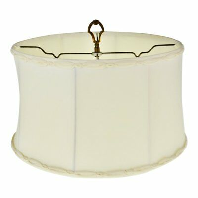Vintage Fabric Braided Trim Diffuser Lamp Shade with Brass Finial
