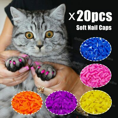 30pcs Silicone Soft Cat Nail Caps Cat Paw Claw Pet Nail Protector Cat Nail Cover