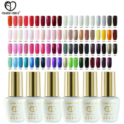 CHARM CHICA 79 Colors Gel Nail Polish Manicure Soak Off UV Top Base Coat Lacquer