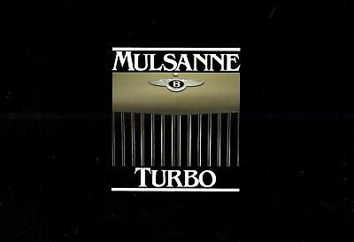 "BENTLEY ""Mulsanne Turbo"" - 1982 - British sales catalogue, prospekte, folder"