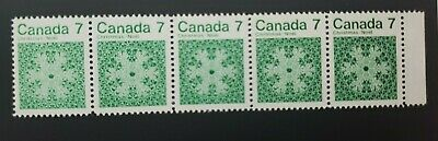 Canada 7 Cents Christmas Noel  Mint Block  5  Stamps