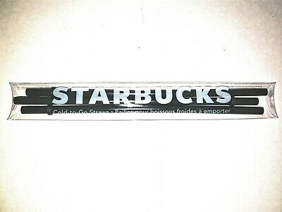 New Starbucks Green Plastic Straws 16 Ounce GRANDE