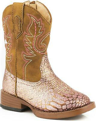 Roper Girls/' and Glitter Breeze Cowgirl Boot Square Toe 09-018-1901-2015 BR