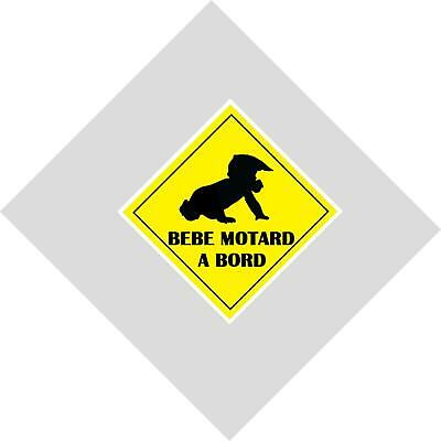 BEBE motard  A BORD SECURITE  120mm AUTOCOLLANT VITRE CARROSSERIE STICKER AUTO
