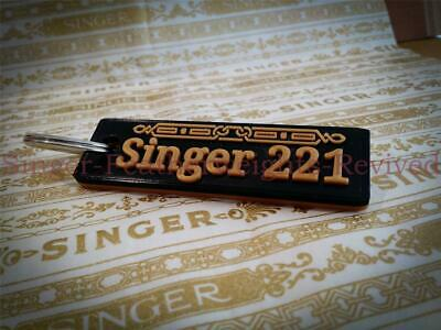 Singer Featherweight ' 221 ' Themed Key Ring/Tag    Singer Featherweight