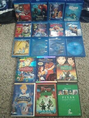 Disney 18 Bluray/DVD Lot- Cars+Toy Story 2+Peter Pan+Finding Nemo+MORE (FREE SH)