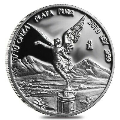 Lot of 5-2019 1//4 oz Mexican Silver Libertad Coin .999 Fine Proof In Cap