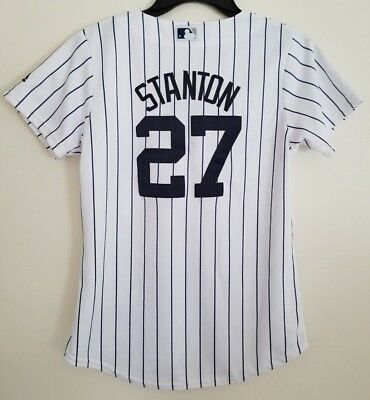 5f7e10264 NWT Giancarlo Stanton New York Yankees Majestic Cool Base Women s Sewn  Jerseys