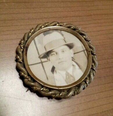 Antique Badge Brass Pin Back Private Detective Authentic Pinkerton? Gangster? A+