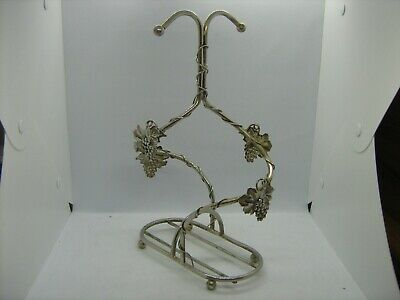 Vintage Silea vine leaf design silver plated bottle holder
