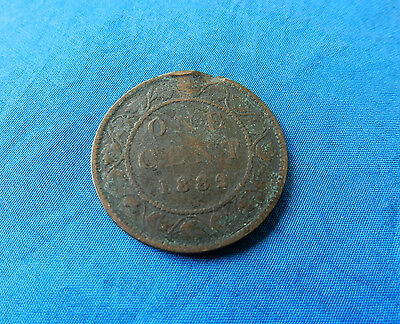 1882 Canada Large One Cent Coin