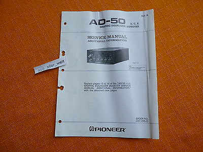 additional information for SERVICE MANUAL PIONEER AD 50 english Ergänzung
