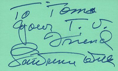 Lawrence Welk Singer Bandleader 1976 Music Autographed Signed Index Card JSA COA