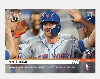2019 Topps Now #74 Pete Alonso-454 Foot HR, Hardest In Mets History (1,313 PR)