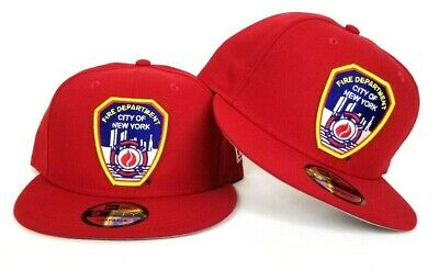 f26c76659 NEW ERA RED Fire Department City Of New York FDNY Logo 9Fifty Snapback Hat