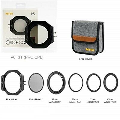NiSi V6 100mm Filter Holder KIT with 86mm Standard PRO CPL