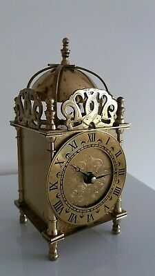 Vintage Smiths English Lantern brass Carriage clock. Reliable quartz movement.
