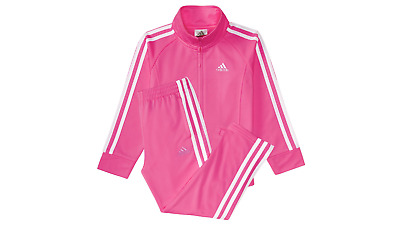ADIDAS New Girls 2 PIECE  Set Track Suit  toddler PINK white