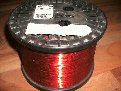 """30 AWG Gauge Enameled Copper Magnet Wire  8.0 lbs 25696' Length 0.0108"""" 155C Red"""