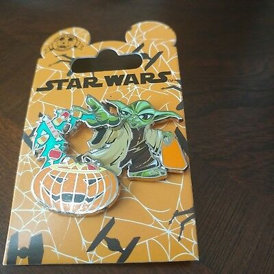 Disney Parks: Star Wars Halloween Edition: Yoda Pumpkin Pin (DP-22) NEW