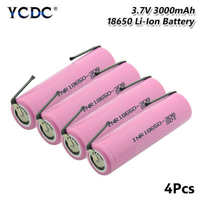 Rechargeable INR18650 30Q Battery 3000mAh High Drain 20A For Vape E-cig 4Pcs A6