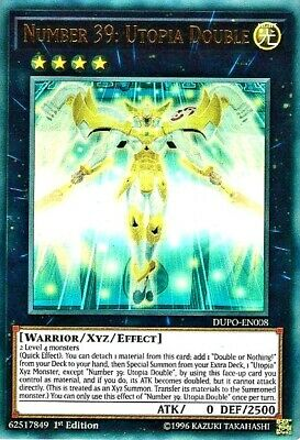 YuGiOh DUPO-EN008 NUMBER 39 : UTOPIA DOUBLE Ultra Rare 1st Edition DUEL POWER