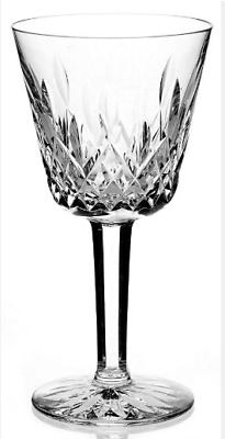 "Vintage Waterford Lismore Crystal Claret Wine Glass 5-7/8"" Tall, 6oz"