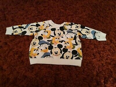 Baby Boys Clothes. 9-12 Months. Disney. Mickey Mouse. H&M Jumper