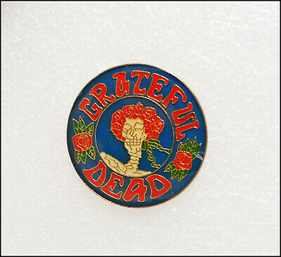 Grateful Dead Vintage 80's Enamel Pin Pinback Badge Jerry Garcia