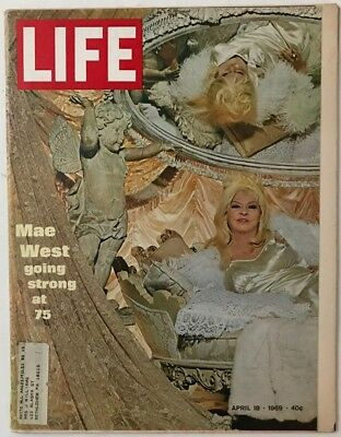 Vintage April 18, 1969 LIFE Magazine - MAE WEST GOING STRONG AT 75
