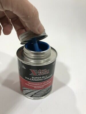 Heavy Duty Blue Vulcanizing Tire Patch Glue Cement 8 oz Can 14-511 Xtra Seal