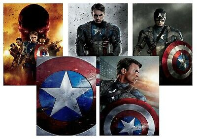 Captain America the First Avenger Red Skull  A5 A4 A3 Textless DVD Movie Posters