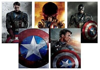 Captain America, First Avenger: Red Skull  A5 A4 A3 Textless DVD Movie Posters