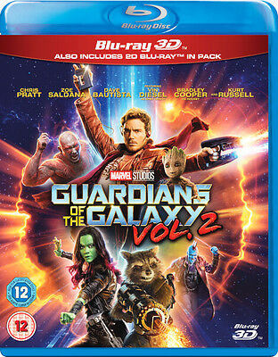 Guardians of the Galaxy Vol. 2 (Blu-ray 2D/3D) MARVEL *BRAND NEW*